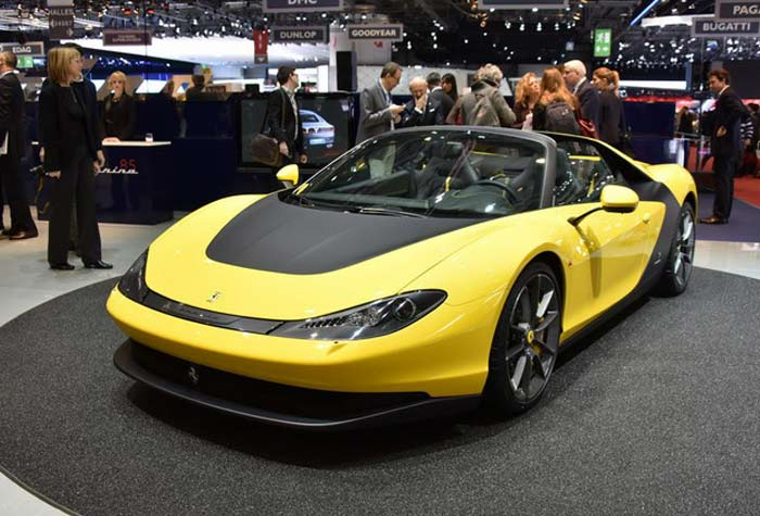 The Ferrari Sergio Made Another Spectacular Entrance at the 2015 Geneva Motor Show