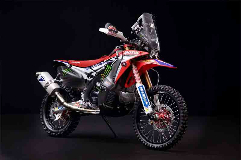 Honda unveils Dakar Rally model at International Motorcycle, Scooter and Bike Fair.