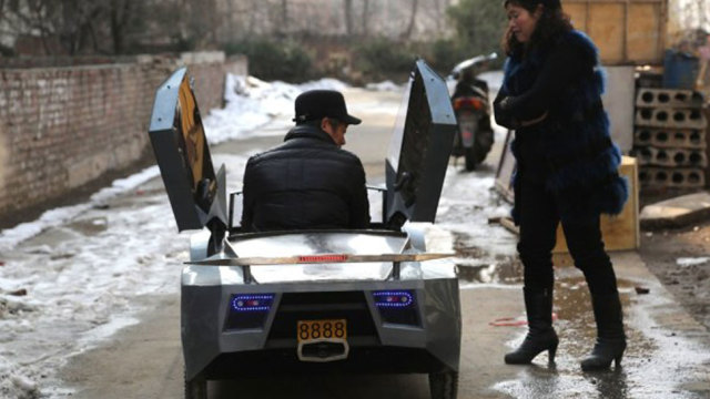 Chinese Grandfather Builds Mini Lambo for his Grandson