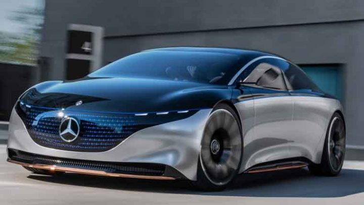 Mercedes Vision EQS True Electric Sports Car 2020